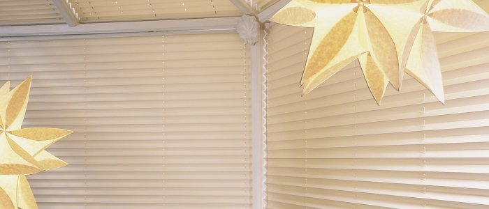 Conservatory pleated blinds by Harmony of North London