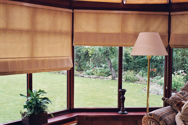 Roman Blinds in a Conservatory