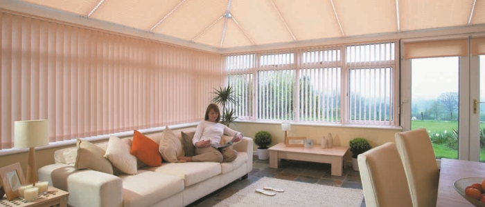 Conservatory vertical blinds by Harmony of North London